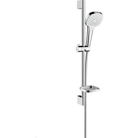 Set Croma Select E 110 Vario / Unica'Croma 0,65 m avec porte-savon blanc/chromé