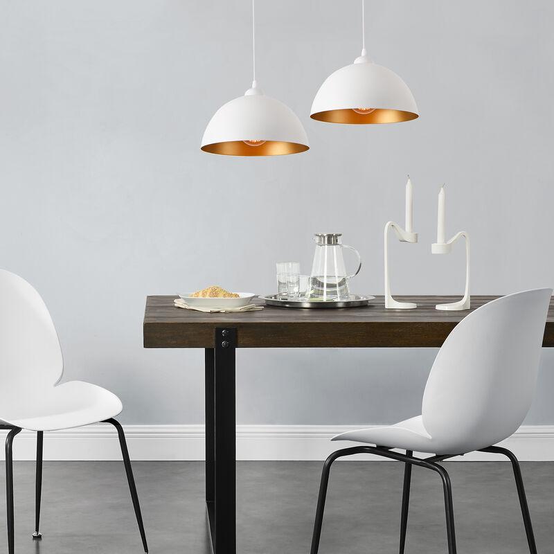 Lux.pro - Set da 2 Lampade a Sospensione in Stile Vintage con Lunghezza Regolabile E27 60W 2x Lampadari in Design Industriale Paralume Ø 30 cm