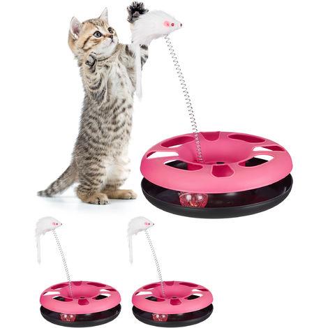 Set Da 3 Giochi Per Gatti Con Topo Percorso Per Pallina Con