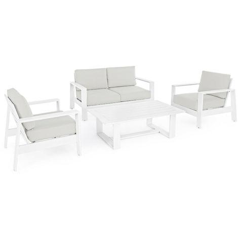 Set da giardino alluminio salottino mobili arredamento ...