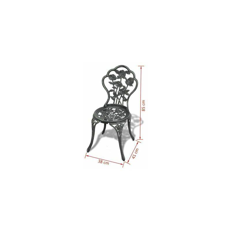 Sedie In Ghisa Da Giardino Prezzi.Set Di Tavoli E Sedie Da Esterno 2 Sedie Verde In Alluminio E