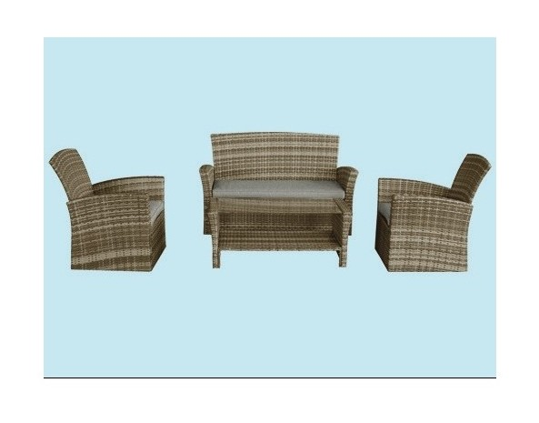 Set divani rattan outsunny set mobili da giardino in polyrattan