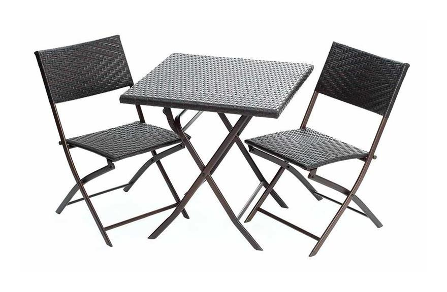 Sedie Pieghevoli Per Esterno.Set Da Giardino Tavolo E 2 Sedie Pieghevoli Per Esterno Cristobal