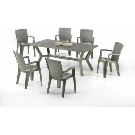 Tavoli E Sedie Da Giardino Resina.Set Da Giardino Tavolo In Resina Carribe E Sedie Giava