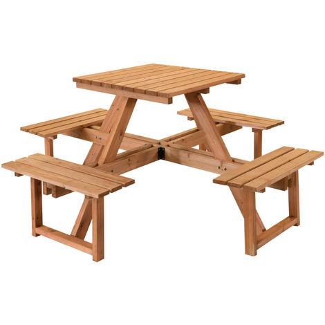 Tavolo Con Panche In Legno.Set Da Picnic Tavolo Con Panche Legno Impregnato 170x170x78 Alta