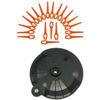 Set d'accessoires de coupe-bordure sans fil Florabest LIDL - Avec 20 lames, disque à tronçonner - Avec vis - FRTA 20 A1 IAN 282232