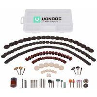 Set d'accessoires pour outil multifonction - 192 pièces - Universel pour outils rotatifs multifonctions