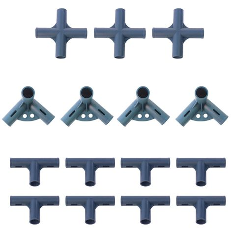 Set d'angles pour serre tunnel 6m² - Tube Diam. 19mm
