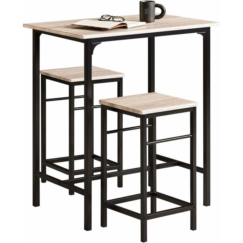 Pieds Pour Table Haute.Set De 1 Table 2 Tabourets Avec Repose Pieds Table Mange Debout Table Haute Cuisine Ogt10 N Sobuy