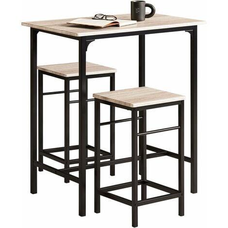 set de 1 table 2 tabourets avec repose pieds table mange. Black Bedroom Furniture Sets. Home Design Ideas