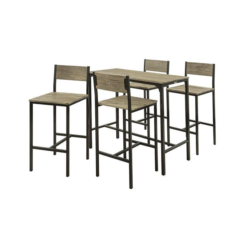 Ensemble Table Et Chaise Cuisine.Set De 1 Table 4 Chaises Ensemble Table De Bar 4 Tabourets De Bar Avec Repose Pieds Table Mange Debout Table Hautecuisine Sobuy Ogt14