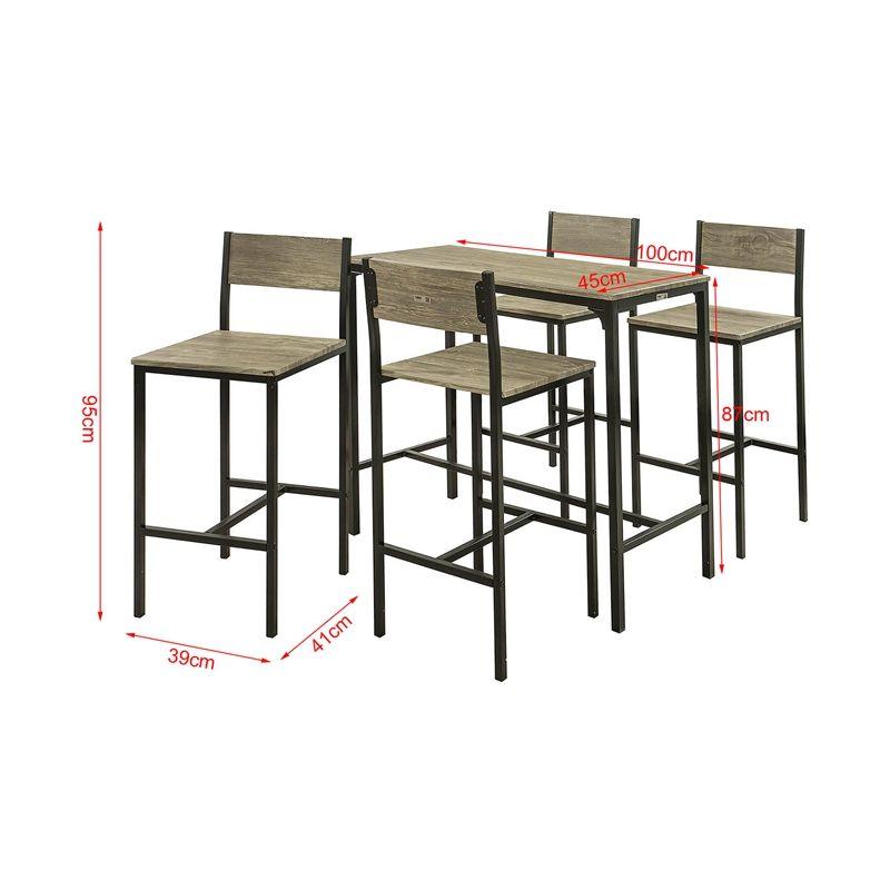 Set De 1 Table 4 Chaises Ensemble Bar Tabourets Avec Repose Pieds Mange Debout Hautecuisine SoBuyR OGT14