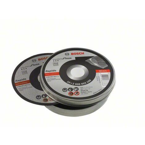 """main image of """"Set de 10 discos de corte Bosch para amoladora 115 mm para para metales inoxidables"""""""