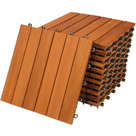 Set de 11 baldosas de madera de Acacia - 30 x 30 cm