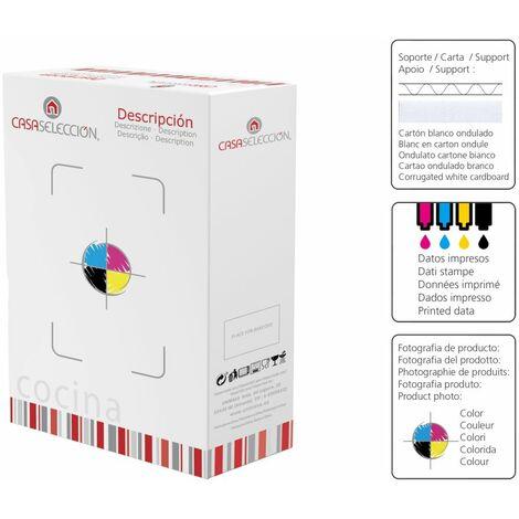 Set de 12 platos postre cuadrados blancos de porcelana de Ø19 cm