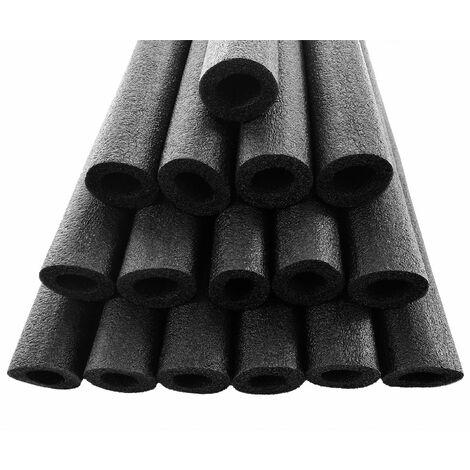Set de 16 mousses universelles pour trampoline pour poteaux de filet Ø25mm - Noir
