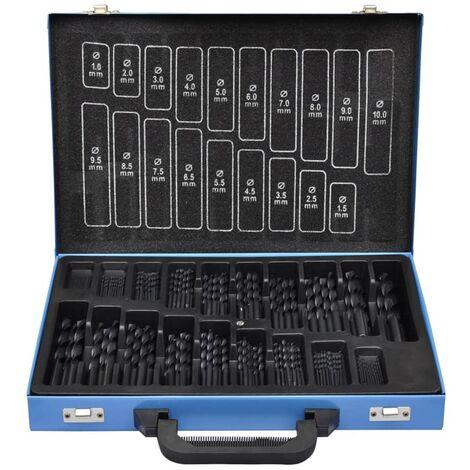 Set De 170-Piezas Broca En Caja De Metal HSS-R