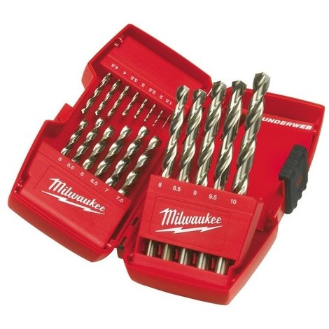 Set de 19 foret HSS-G thunderweb MILWAUKEE - 4932352374