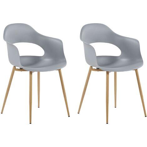 Set de 2 chaises de salle à manger grises UTICA