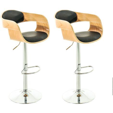 Set de 2 chaises hautes Kingston similicuir