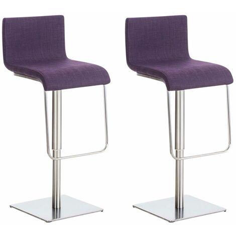 CLP Set De 2 Chaises Hautes Limon En Tissu Violet