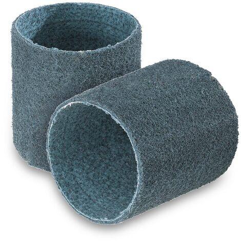 Set de 2 cintas abrasivas - lana de lijado de nylon- granulación media