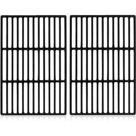 Set de 2 grilles en fonte   41,5 x 27 cm     Pour Black Oak, Tepro Toronto