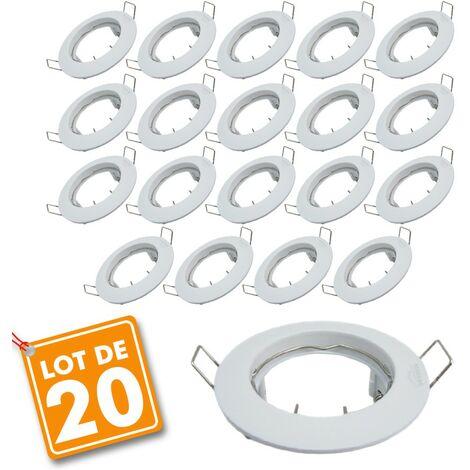 Set de 20 monturas fijas empotradas en blanco D79