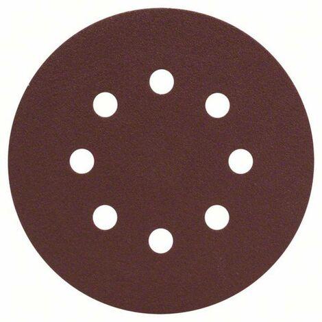 Feuille abrasive pour ponceuse excentrique avec bande auto-agrippante, perforé Bosch Accessories 2607019494 Grain 120 (