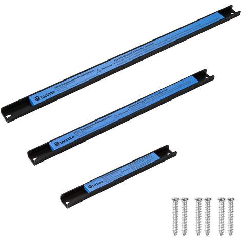 Set de 3 Barres de Rangement Outils murales 3 Tailles différentes en Acier Bleu