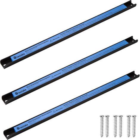 Set de 3 Barres de Rangement Outils murales 46 cm en Acier Bleu