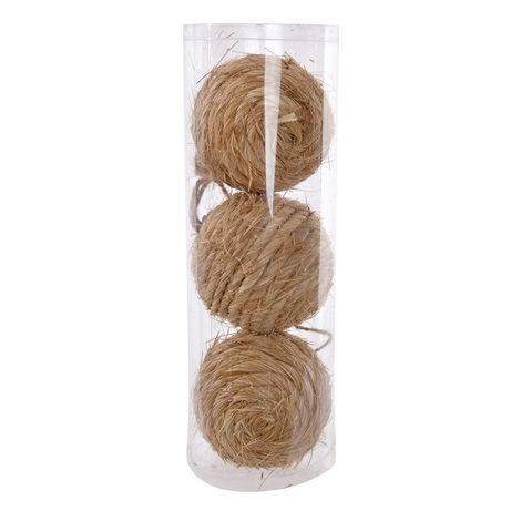Set de 3 Bolas de Navidad Ø9cm,Forma Cuerda, Adorno del árbol Navidad, Decoración navideña Hogar y Más