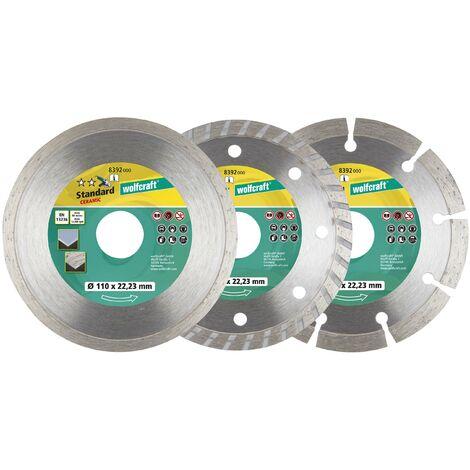 Set de 3 discos diamantados de corte