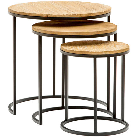 Set de 3 mesas nido auxiliares Tape | Mesas de café - 50281001052334