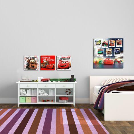 """main image of """"Set de 3 Toiles Imprimées Cars & Friends Disney 30 x 30cm Multicolore"""""""
