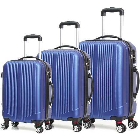 Luxe valise de voyage tissu Valise M L XL set Trolley 4 jumelle rôles 360 ° valise