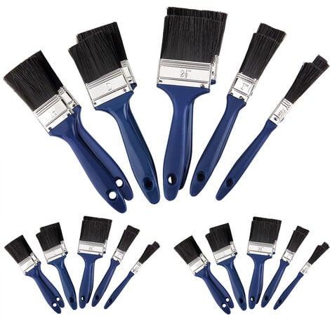 Set de 30 pinceaux bleu professionnels 5 tailles différentes peinture maison travaux divers intérieur extérieur zones vastes ou difficile d'accès