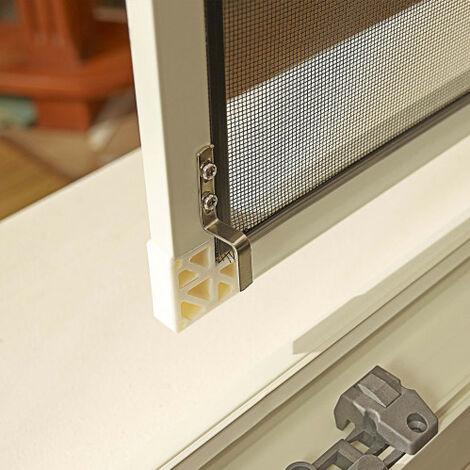 Set de 4 angles blanc pour moustiquaire à cadre fixe