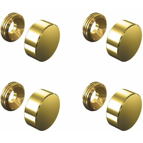 Set de 4 cache vis doré 13 mm