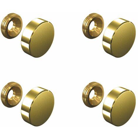 Set de 4 cache vis doré 18 mm