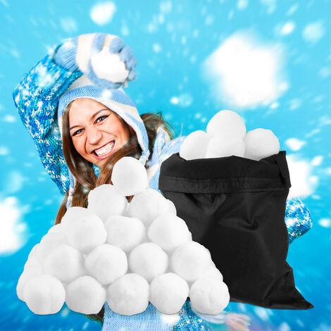 Set de 50 Bolas Nieve Artificial, Decoración Navidad, Escaparate, Invierno, Adorno, Niños, Poliéster, Blanco