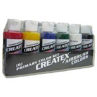 set de 6 pots de peinture créatex transparent 60 ml