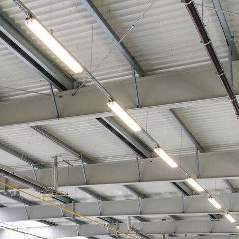 Set de 6 SMD LED Plafond Lampes Atelier Sous-sol Tubes Lumières Industrielle Entrepôt Halls Tubes