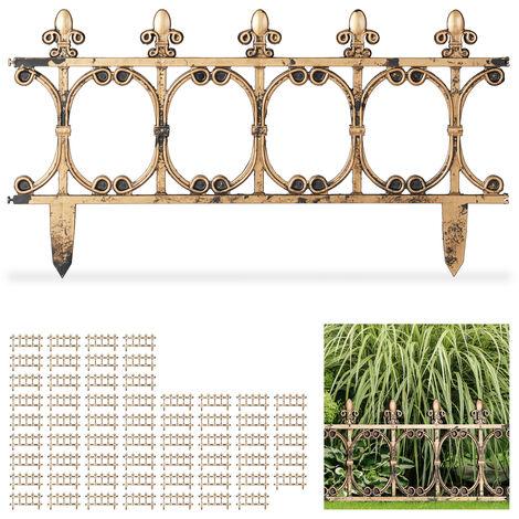 Set de 60 vallas decorativas para jardín, Vintage, Altura de 24 cm, Cobre