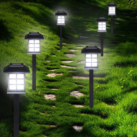 Set de 6x lampes solaires LED Lumière pour jardin balon ...