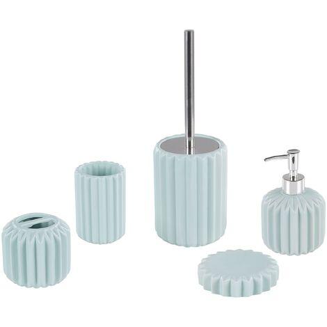 Set de accesorios de baño 5 piezas azul GORBEA