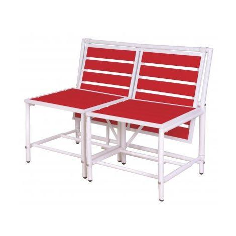 Set de Balcon Modulable Rouge