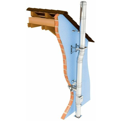 Set de base conduit fumée double paroi diamètre 150 mm pour tous les foyers standard