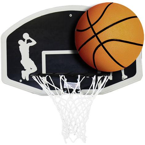 Set de basket-ball - panneau (90cm)+cercle avec filet (45cm) - ballon taille 7
