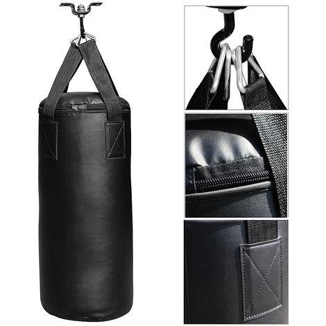 Set de boxeo Saco de boxeo relleno 10kg + soporte + guantes + Vendaje saco de entrenamiento de boxeo mma kickboxing fitness golpear